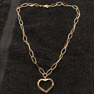 Jewelry - 14K Yellow Gold Necklace With Heart Pendant